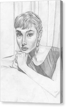 Audrey Hepburn Canvas Print by Olena Kukushkina