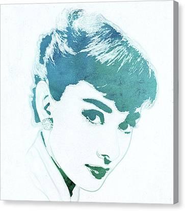 Audrey Hepburn Pop Art Canvas Print