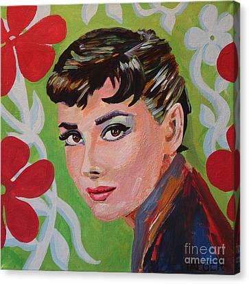 Audrey Hepburn Portrait Canvas Print by Robert Yaeger