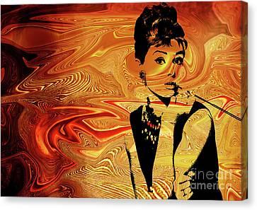 Celebrities Canvas Print - Audrey Hepburn by Prar Kulasekara
