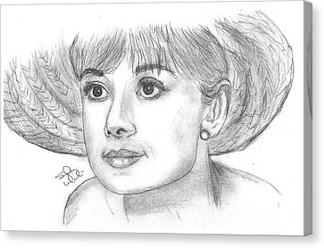 Audrey Hepburn Smile Canvas Print by Steven White