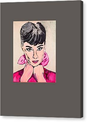 Audrey Hepburn Canvas Print by Valerie Ornstein