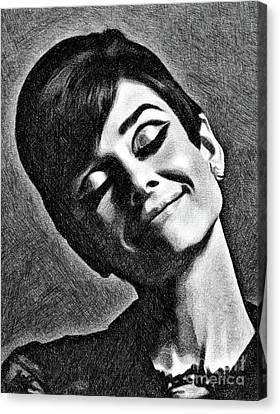 Hepburn Canvas Print - Audrey Hepburn, Vintage Actress By Js by John Springfield