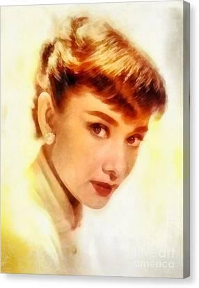 Audrey Hepburn, Vintage Hollywood Actress Canvas Print