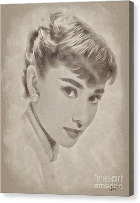Audrey Hepburn, Vintage Hollywood Actress Canvas Print