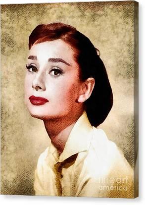 Audrey Hepburn, Vintage Hollywood Legend Canvas Print