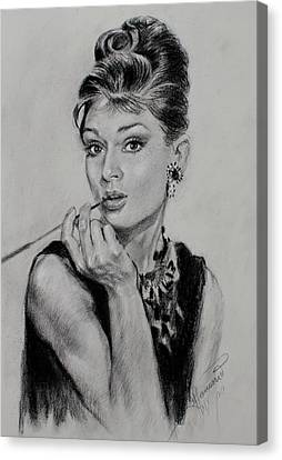 Icon Canvas Print - Audrey Hepburn by Ylli Haruni
