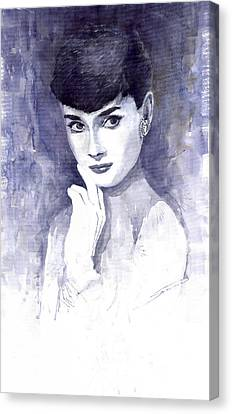 Audrey Hepburn  Canvas Print by Yuriy  Shevchuk