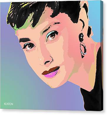 Canvas Print featuring the digital art Audrey by John Keaton