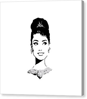 1960 Movies Canvas Print - Audrey by Rene Flores