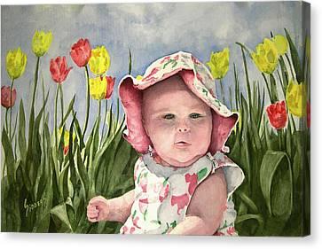 Audrey Canvas Print by Sam Sidders