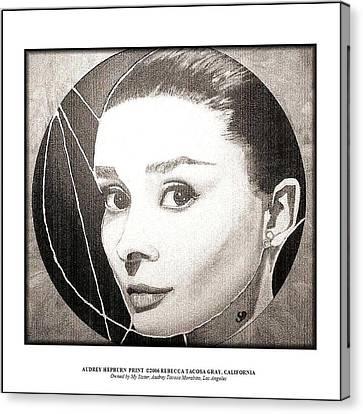 Audreyhepburnprint Canvas Print by Rebecca Tacosa Gray