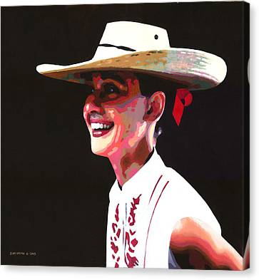 Audrey's Hat Canvas Print by Douglas Simonson