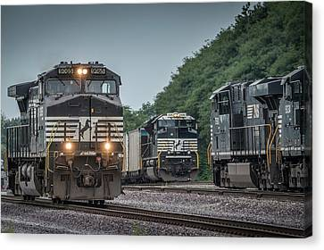 Indiana Landscapes Canvas Print - August 23, 2016 Norfolk Southern 9065 At Princeton In by Jim Pearson