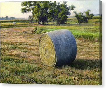 August Bale Study No.1 Canvas Print