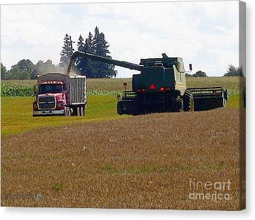 August Harvest Canvas Print by J McCombie