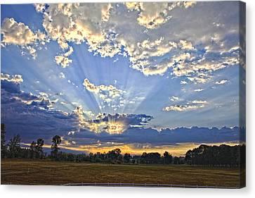 August Sunrise Canvas Print