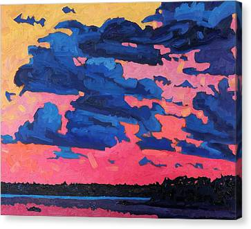 August Sunset Canvas Print by Phil Chadwick
