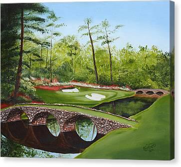 Florida Bridge Canvas Print - Augusta Golf Course by Kimber  Butler