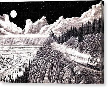 Aullido En La Noche Canvas Print by Cleofas Orozco Blancarte