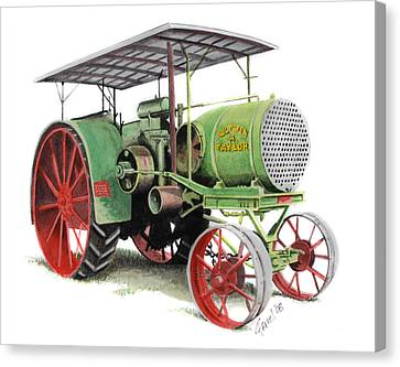 Aultman And Taylor Tractor Canvas Print by Ferrel Cordle