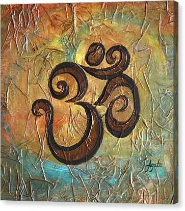 Canvas Print featuring the painting Aum by Agata Lindquist