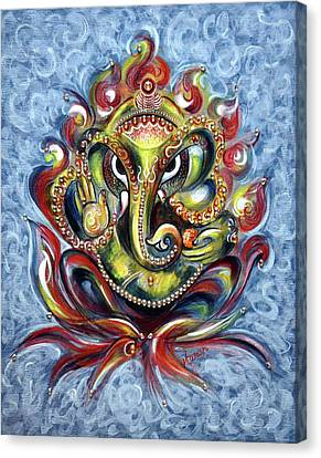 Parvati Canvas Print - Aum Ganesha by Harsh Malik