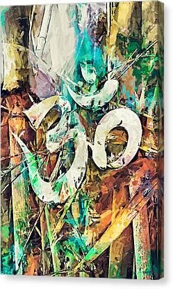 Aum - Om Canvas Print by Sampad Art