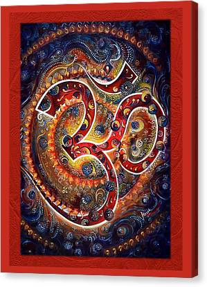 Aum - Vibrations Of Supreme Canvas Print by Harsh Malik