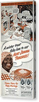 Aunt Jemima Ad, 1948 Canvas Print by Granger