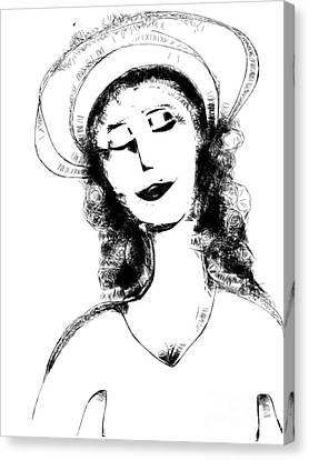 Auntie Mame Canvas Print by Elaine Lanoue