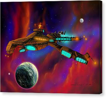 Canvas Print featuring the painting Auroborus 2015 by James Christopher Hill