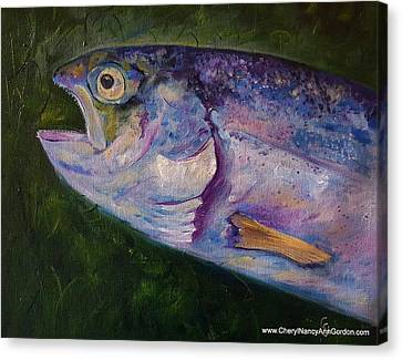 Aurons Rainbow Trout Canvas Print