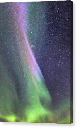 Canvas Print featuring the photograph Aurora Abstract by Hitendra SINKAR
