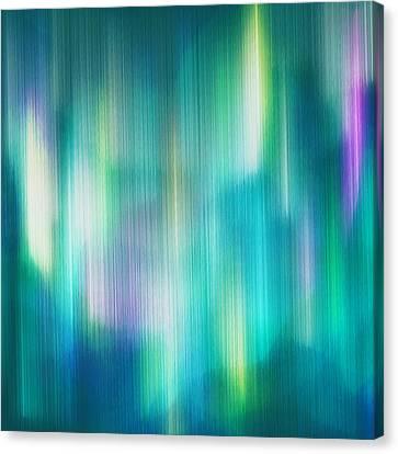 Aurora Borealis Abstract Canvas Print by Lourry Legarde