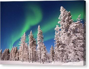 Aurora Borealis Canvas Print by Delphimages Photo Creations
