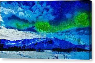 Deep Canvas Print - Aurora Borealis by Leonardo Digenio