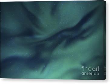 Aurora Borealis Over Sandstrand, Troms Canvas Print by Arild Heitmann