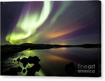 Aurora Borealis Over Thinvellir Canvas Print