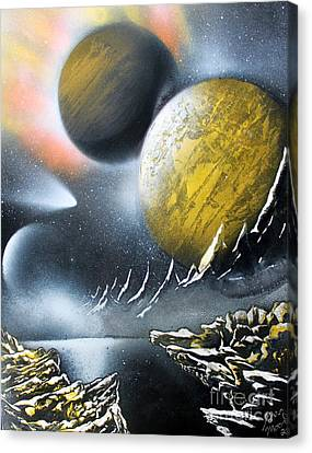 Canvas Print featuring the painting Aurora by Greg Moores