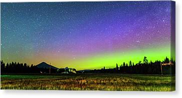 Canvas Print featuring the photograph Aurora In Sisters by Cat Connor