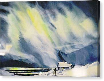 Aurora-lights Canvas Print by Nancy Newman