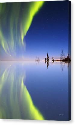 Aurora Mirrored Canvas Print by Ed Boudreau