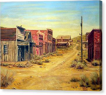 Aurora Nevada Canvas Print by Evelyne Boynton Grierson