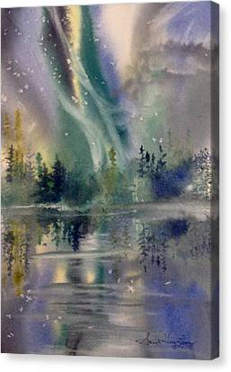 Aurora Over Alice Lake Canvas Print by Sarah Guy-Levar