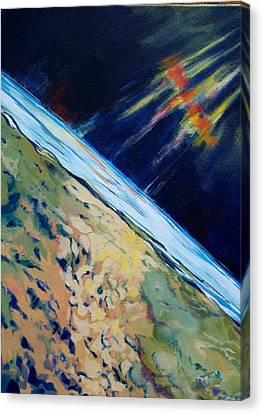 Aurora Over Antartica Canvas Print by Patricia Bigelow