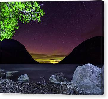 Aurora Over Lake Willoughby Canvas Print