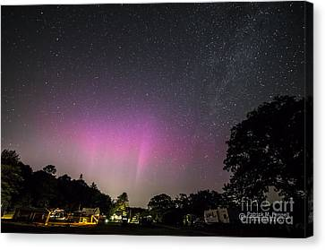 Aurora Over Sagadahoc Bay Campground Canvas Print