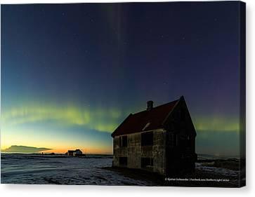Aurora Over Sunset. Canvas Print by Kjartan Gudmundur Juliusson