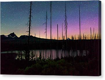 Canvas Print featuring the photograph Aurora Reflections by Cat Connor